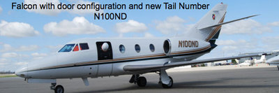 Falcon117 with door configuration and new Tail Number N100ND